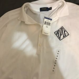 NWT Ralph Lauren White polo Shirt Size medium